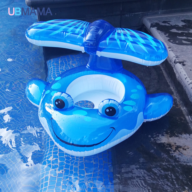 For Kids Over 1 Year Old Baby Cartoon Animal Whale Shape Swim Seat Floating Ring Infant Inflatable Swimming Training Accessories
