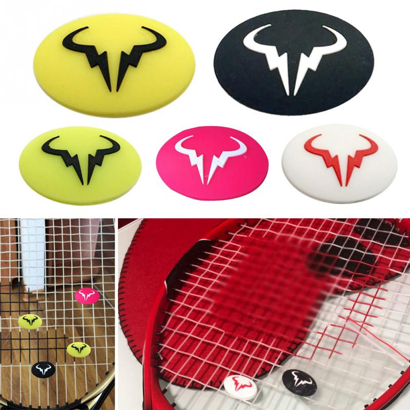 Cartoon Tennis Racket Shock Absorber Vibration Dampeners Silicone Durable