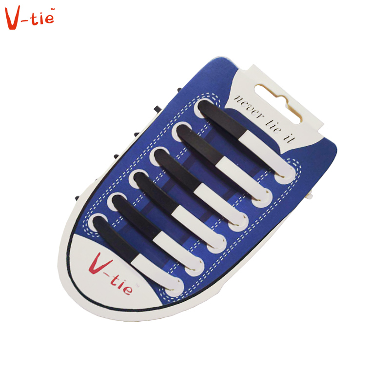 Suit 1-50 Sets Solid Black and White Flexible Luminous Creative Silicone No-Tie Shoelaces Elastic Trainers Unisex Lazy Shoe Lace