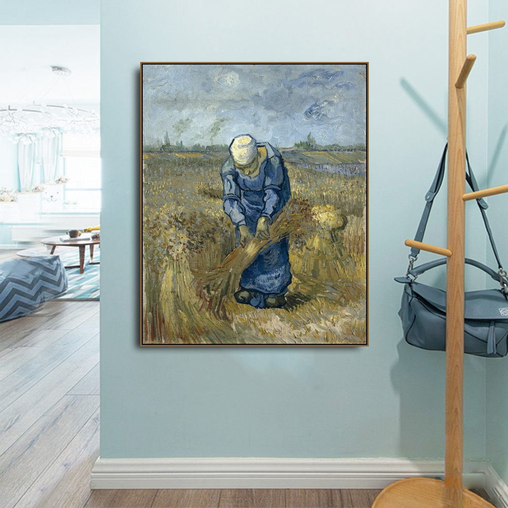 Peasant woman by Vincent Von Gogh Poster Print Canvas Painting Calligraphy Home Decor Wall Art Pictures for Living Room Bedroom in Painting Calligraphy from Home Garden