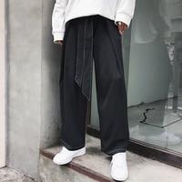 Men's loose straight nine point casual pants Japanese style men's wide leg pants Korean version. S 6XL!!