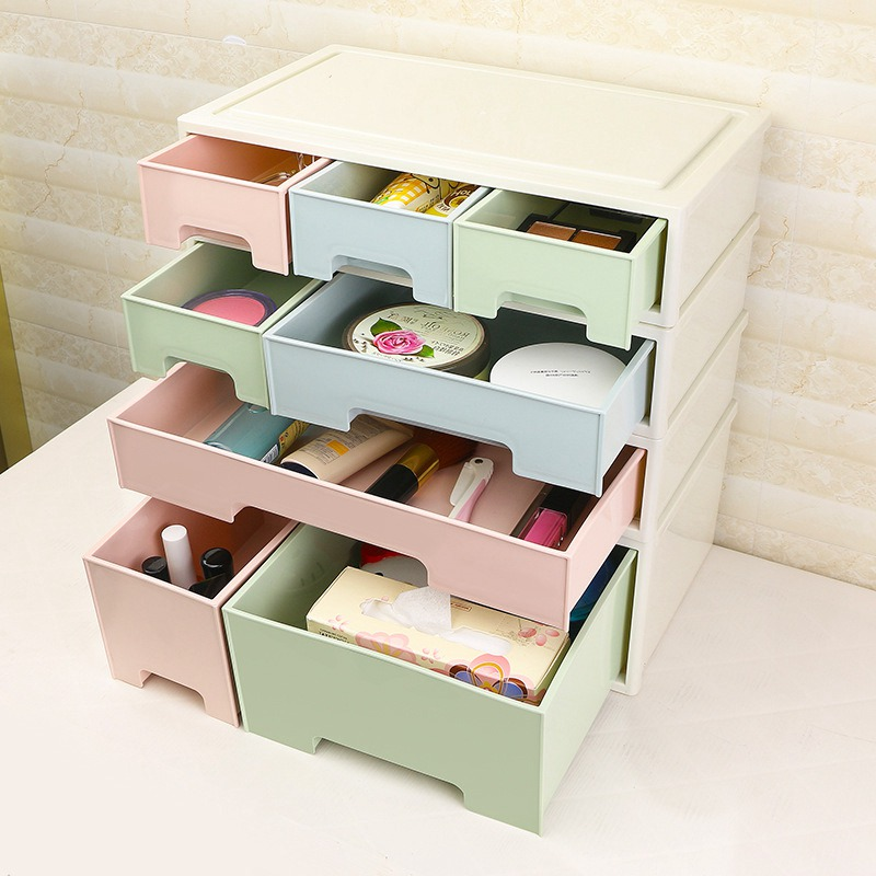 Combinable Diy Drawer Desk Organizer Desktop Storage Box