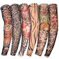 6 UNIDS Nueva Nylon Elástico Fake Manga Del Tatuaje Temporal Diseña Medias del Brazo del cuerpo Tatoo para Hombres Frescos de Las Mujeres Del Envío gratis D01040