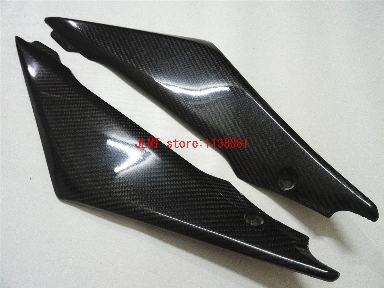 Carbon Fiber Tank Side Cover Panel FAIRING for Suzuki GSXR1000 GSX R1000 GSX-R1000 GSXR1000 GSXR 1000 2006 2005 06 05 custom road fairing kits for suzuki glossy flat black 2006 gsxr 1000 k5 2005 gsx r1000 06 05 motorcycle fairings kit