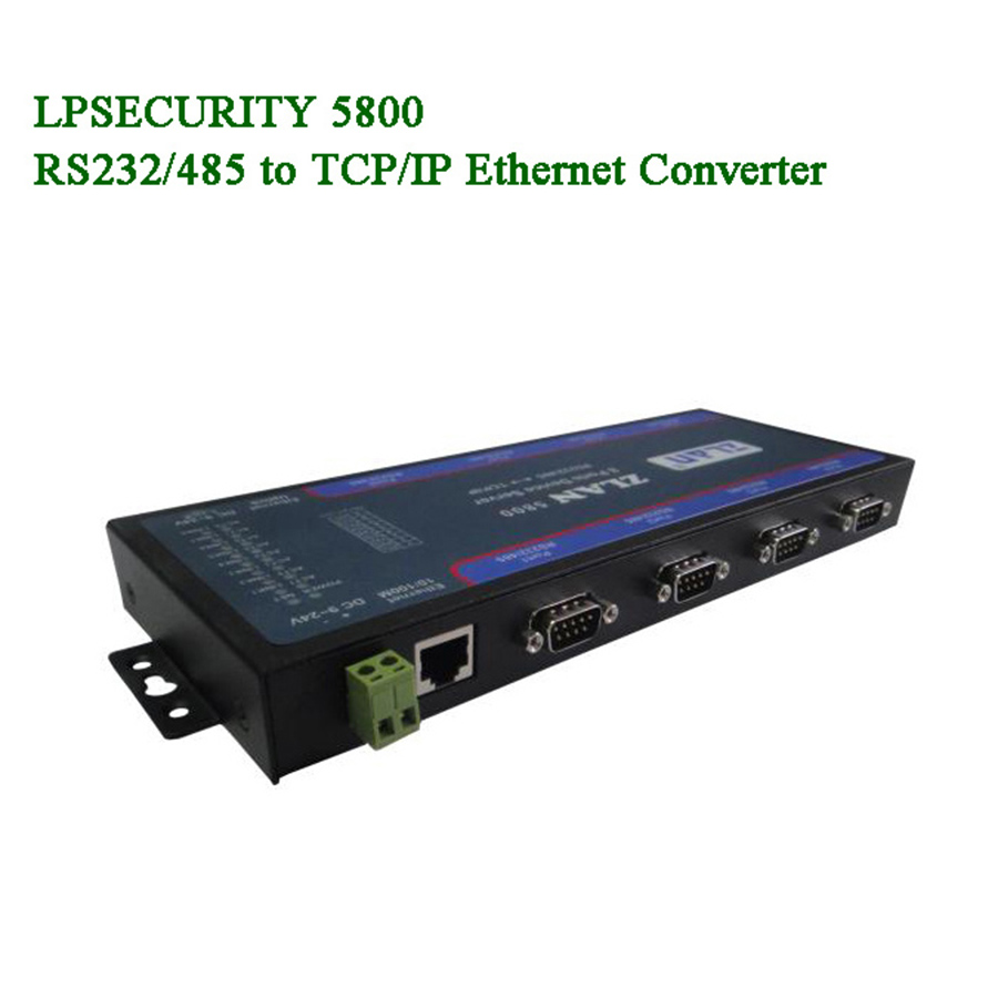 ZLAN5800 8 Ports Multi Serial Device Server RS232 RS485 To TCP/IP Ethernet Converter Extension Cascade RJ45 Multi-serial Ports