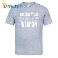 Hommes de Choisir Votre Arme Pierre Papier Ciseaux T-Shirt Hommes T-shirt D'été Tops T-shirts De Mode chemises