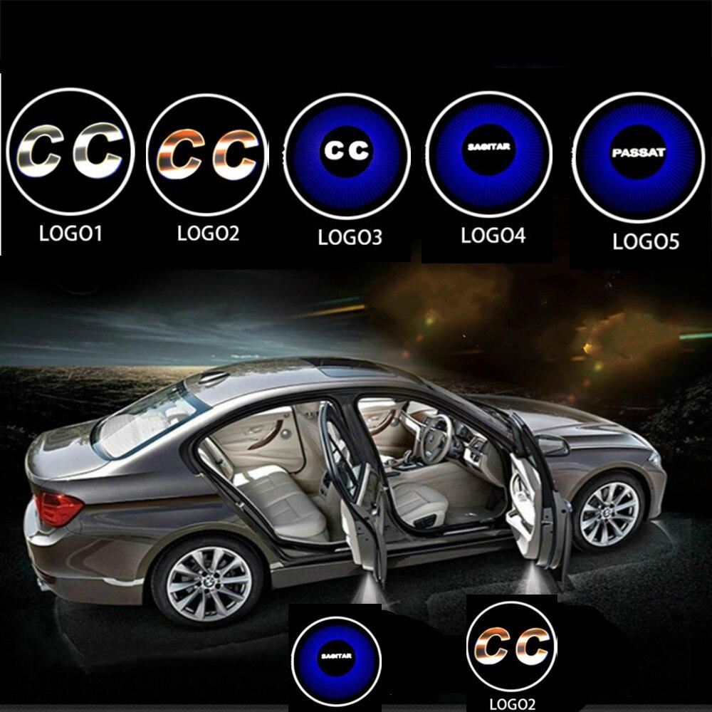JURUS 2pcs Dedicated For Volkswagen light Car Door light Welcome Logo Passat CC Jetta MK5 MK6