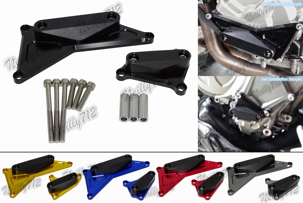 waase Left & Right Engine Crash Pads Frame Sliders Protector For BMW S1000RR 2009 2010 2011 2012 2013 2014 2015 2016 motorcycle cnc aluminum frame sliders crash pads protector suitable for kawasaki z800 2012 2013 2014 2015 2016 green