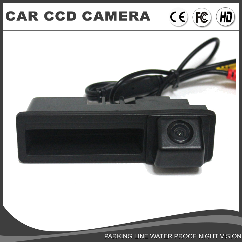 Car Trunk Handle Rear View backup Camera for For AUDI A3 A4 A6 A6L A8 Q7 Parking assist Reverse ...