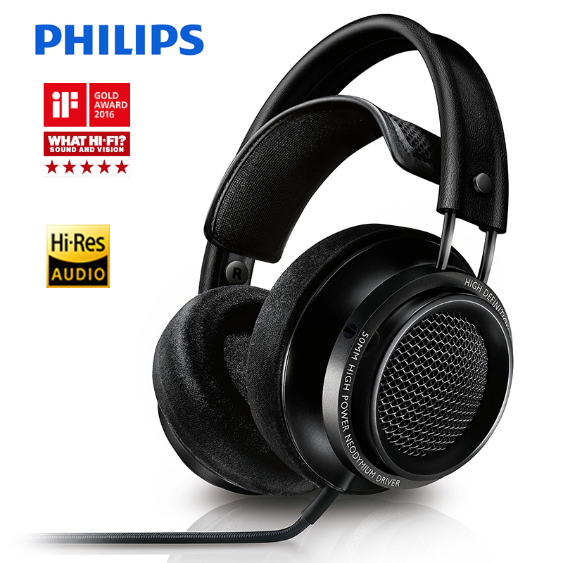 Philips Fidelio X2HR headphones voted best product in 2015 with 50 mm high-power drive 3meters Line Length for xiaomi smartphone image