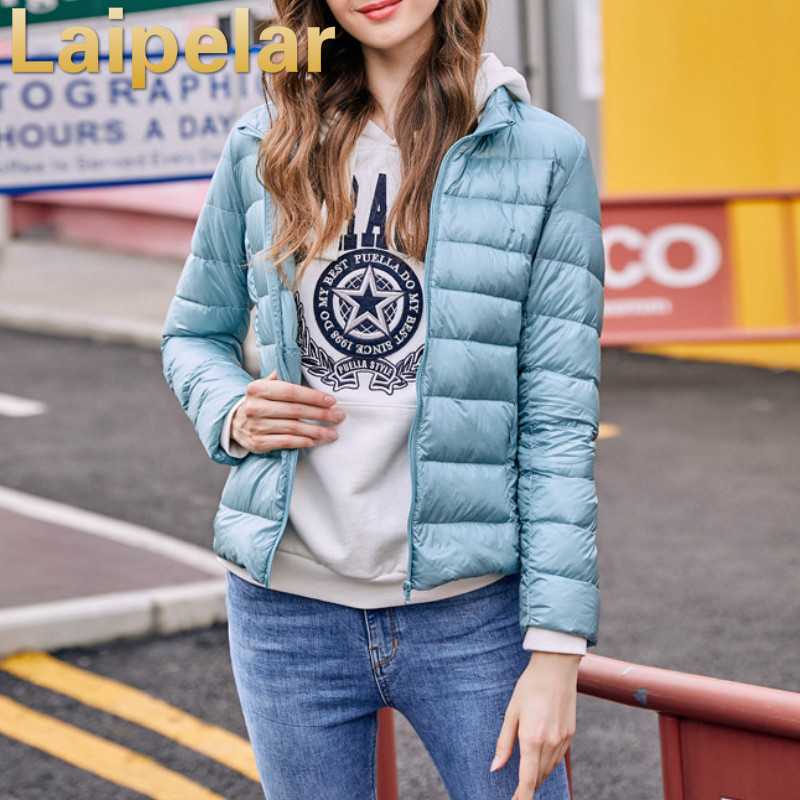 women winter jacket standing collar solid coat 2018 Autumn Winter thin outerwear female short zipper cotton clothing coat in Parkas from Women 39 s Clothing