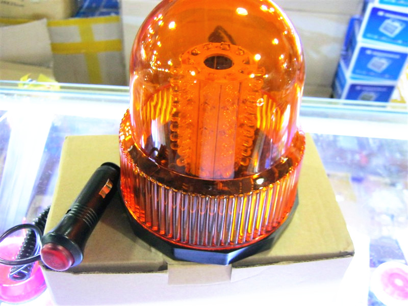 80 LED Emergency Vehicle Flash Strobe And Rotating Beacon Warning Light Amber