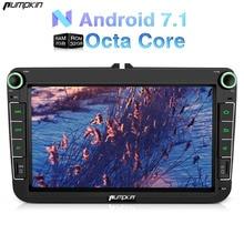 Kürbis 2 Din 8 Zoll Android 7.1 Auto Dvd GPS Navigation Autoradio Für VW/Golf/Leon Wifi 3G FM Karten DAB + Radio Headunit