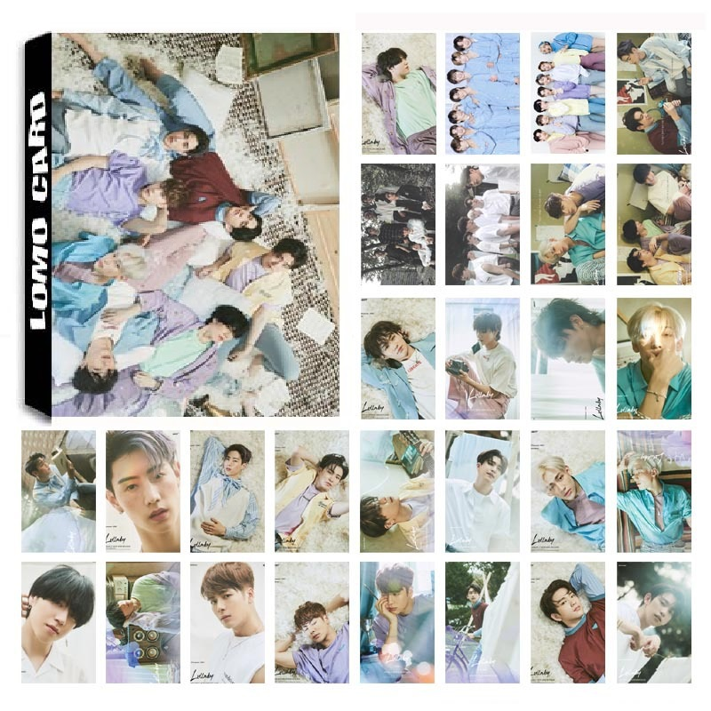 30Pcs/set KPOP GOT7 07 Lullaby Album Photo Card PVC Cards Self Made LOMO Card Photocard
