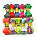 New Arrivals 2.5mm 20M/sheaf Chinese Knot Cord Rattail Satin Braided String Mixed 29 Colors Jewelry Findings Beading Rope
