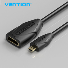 Vention Micro HDMI To HDMI Female Extension Cable HDMI Type D Male to Female HDMI Type A Adatper Cable M/F Converter For Phone