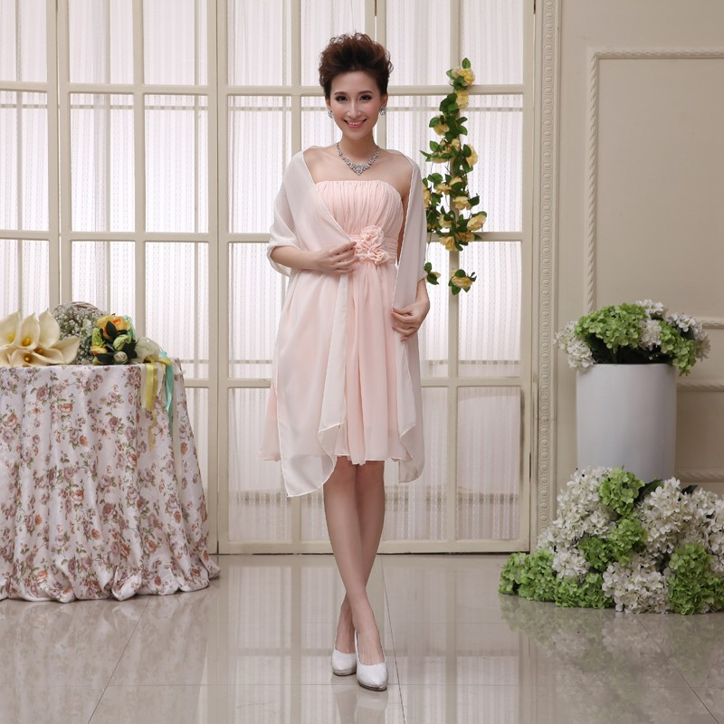 200cm*75cm Woman Wedding Wraps Bolero Chiffon Jacket Shrug For Bridal Party Custom-made Color Avaliable 2018