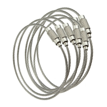 10PCS Stainless Steel Wire Keychain Cable Rope Key Holder Ke
