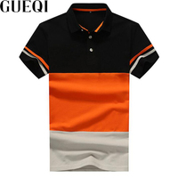 Gueqi color patchwork men polo shirts plus size m 4xl striped fashion man breathable cotton tee.jpg 200x200