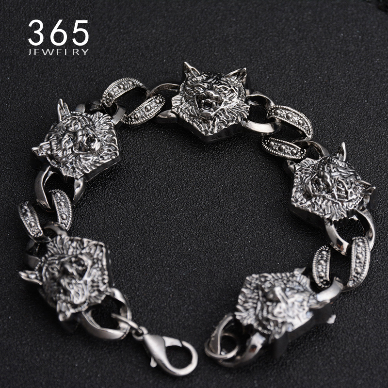 Best Charm Bracelet: Best Friendship Jewelry High Quality Silver Color Wolf