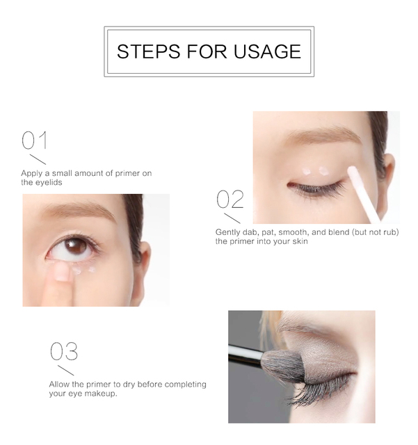 Make Up Oil Control Brighten Long Lasting Cosmetic Eyeshadow Primer Makeup Eye Base Cream Liquid Eye Shadow Primer 2