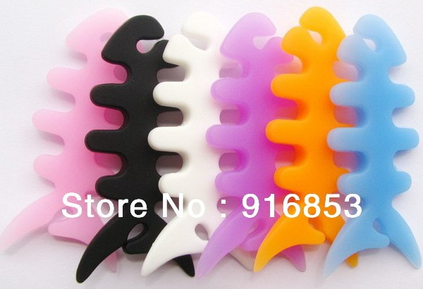 Free shippoing!!Silicone fish coil winder, headset cable winder, fish bone coiling machine, multi-color.