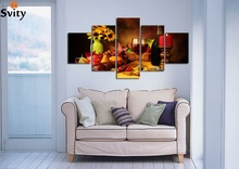 stickers 5 Panel Wall Art Painting print On Canvas Picture Modern Fruit Pictures Hd Kitchen home decor No Frame A113