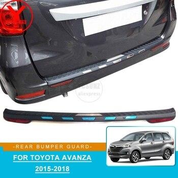 ABS samochodów osłona zderzaka tylnego naklejka do Toyoty avanza 2015 2016 2017 2018 akcesoria krok dla toyota avanza 2015 2016 YCSUNZ