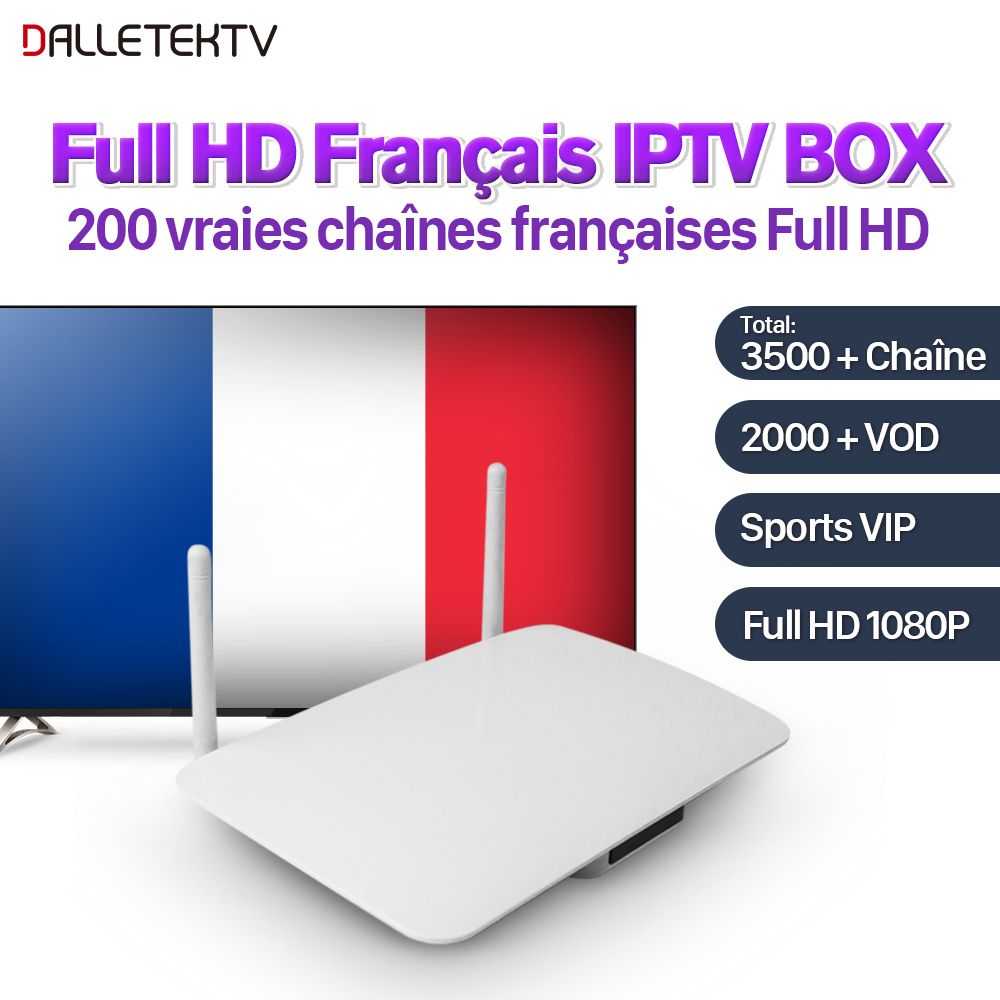 IPTV French Box Android with 1 Year VOD Movies IPTV French Belgium Canada Arabic Sports Live IPTV Subscription French IP TV