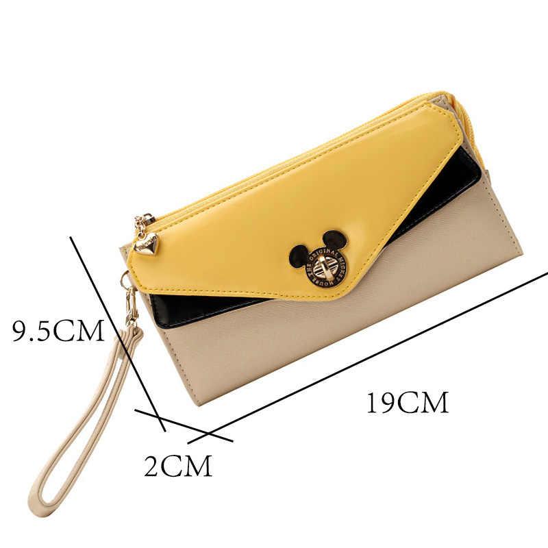 Original Disney Lange Brieftasche Hohe Qualität Original Weibliche PU Geldbörse Mickey Maus Frauen Geburtstag Geschenke Mädchen Spielzeug