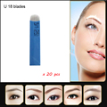 18-pin U Shape Tattoo Eyebrow Needle Manual Needle Blade 3D Embroidery for eyebrow tattoo blade