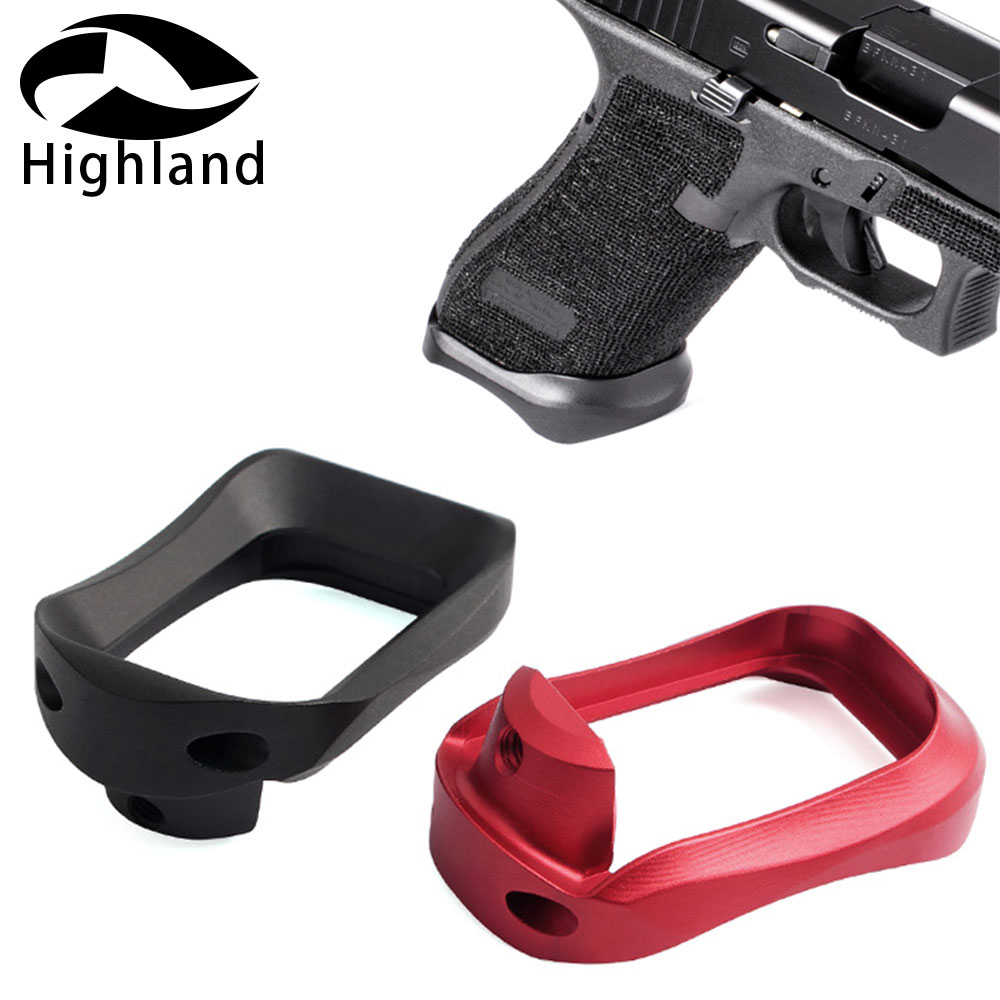 Hunting Caza CNC Aluminum Holster Magazines Base Pad Glock 17 22 24 31 34 35 37 Grip Adapter Magwell For Gen 1-4 Base Pad