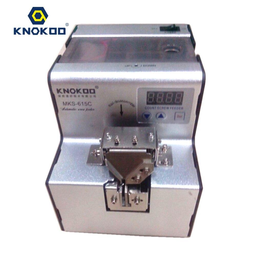 Alta qualidade KNOKOO MKS-615C aplicado a vários tamanho do alimentador Automático de parafuso parafuso de M1.0 ~ M5.0 Auto screw dispenser
