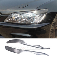 IS200 Carbon Fiber Car Headlight Eyebrows Cover Trim Sticker for Lexus 1999 2004