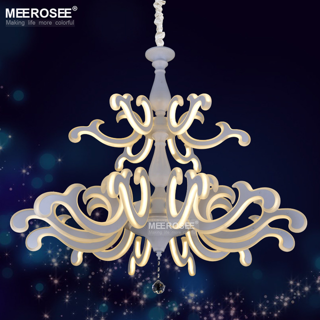 Modern led chandelier lighting white acrylic led hinging lustre lamp modern led chandelier lighting white acrylic led hinging lustre lamp led drop lamparas for living room mozeypictures Image collections