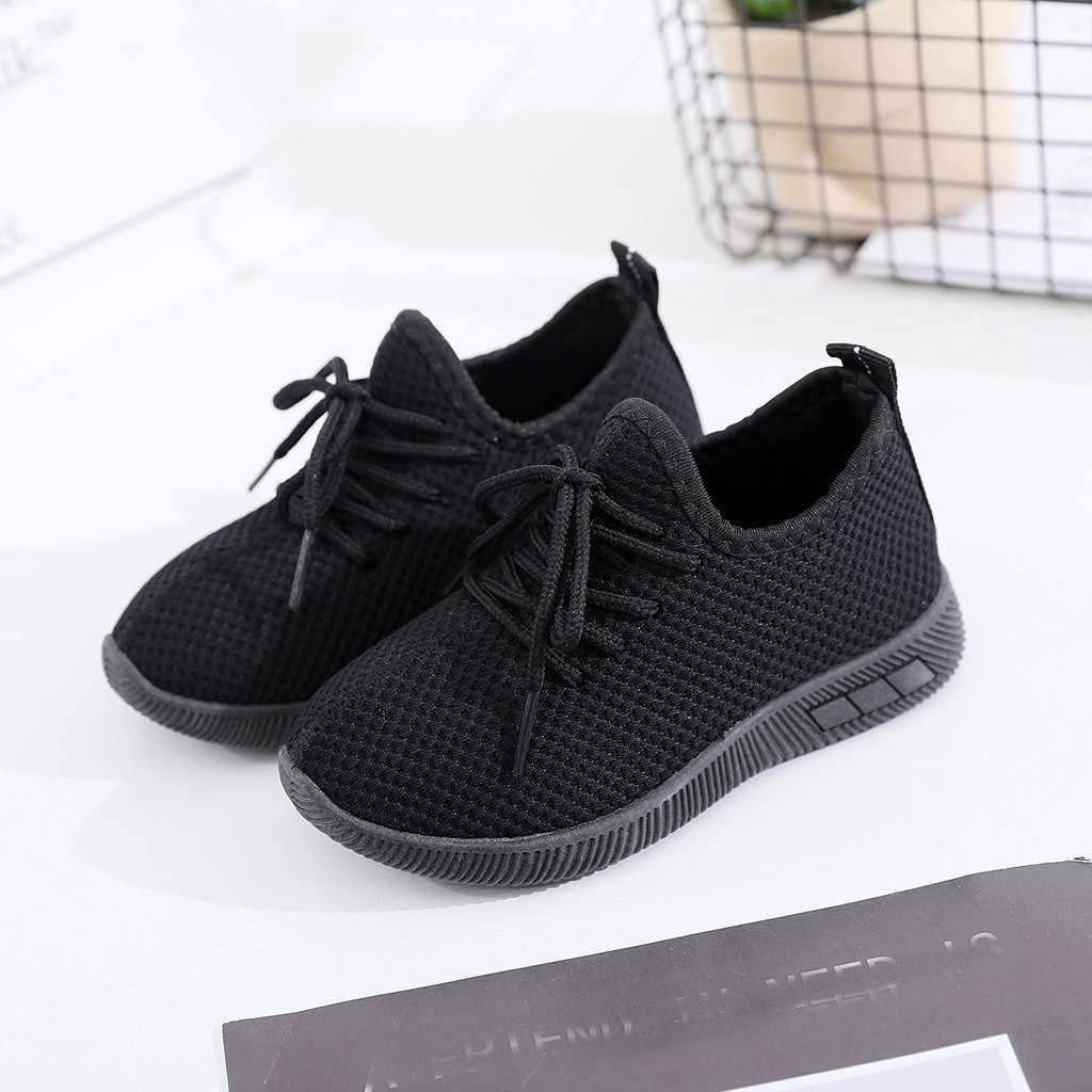 Çocuk bebek çocuk ayakkabı bebek kız erkek düz spor koşu ayakkabıları rahat ayakkabılar Sapato Feminino erkek ayakkabı