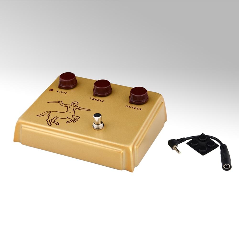 Klon Centaur Golden Professional Overdrive Guitar Effect Pedal 1:1 diy klon centaur professional overdrive effect pedal kits project box enclosed case