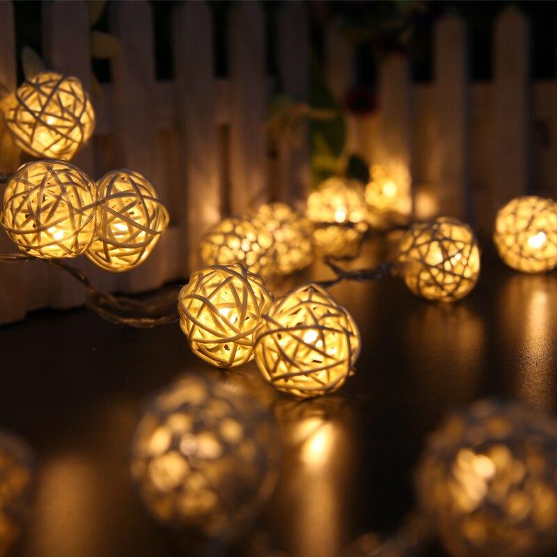 Luz Conduzida da Corda guirlanda pingente decoração do jardim Fonte de Luz : Lâmpadas Led