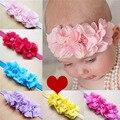 Vendas del bebé recién nacido Al Por Mayor del pelo de los niños accesorios del bebé venda del pelo del bebé bonito headwear venda de los niños 12 colores