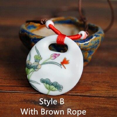 Buy ceramic necklace blue and white pendants new fashion vintage porcelain - Find porcelain accessory authentic ...