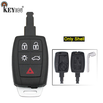 KEYECU 10x for for Volvo C30 C70 V50 S40 Replacement 4+1 5 Button Remote Car Key Shell Case Fob FCC ID: KR55WK49259
