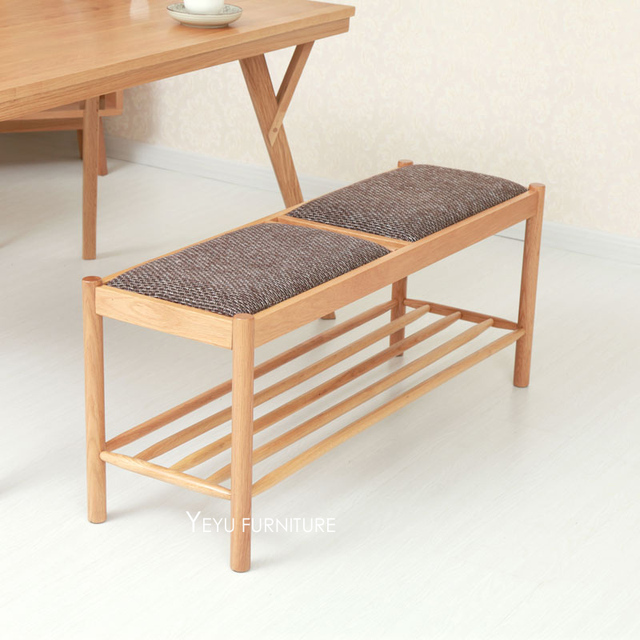 Diseño moderno del roble de madera acolchada Zapatos cambiar las ...