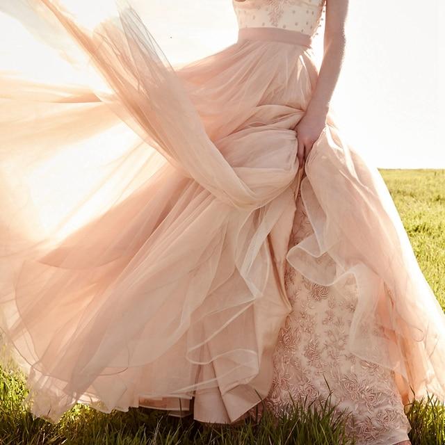 Luxury Soft Tulle Petticoats For Wedding Dresses Underskirt Blush ...