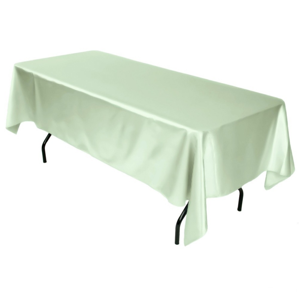 Superior Fedex IE 60x102 In./230x260cm Rectangular Polyester Tablecloth Sage For  Wedding Event Banquet Party