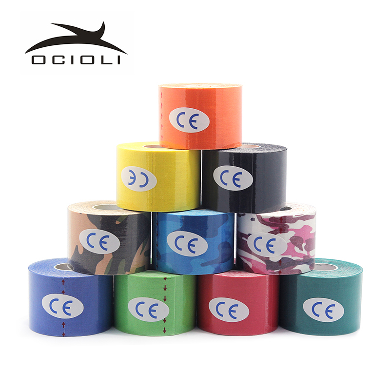 12 Rolls 5cmx5m Kinesiology tape athletic Tapes Kinesiology Sport Taping Strapping Good Quality Football Exercise Muscle