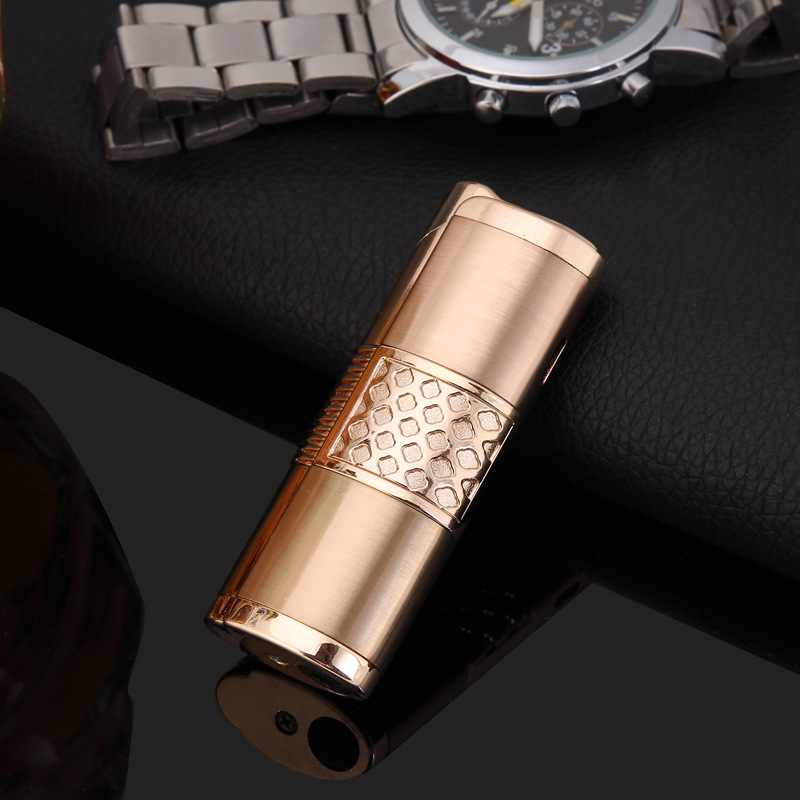 Image 5 - 2019 New Cigar Lighter Pen Torch Turbo Lighter Compact Jet Lighter Gas Windproof All Metal 1300 C Butane No Gas-in Matches from Home & Garden