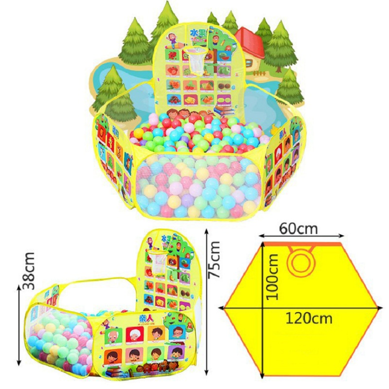Купить с кэшбэком Portable Baby Playpen Children Outdoor Indoor Ball Pool Play Tent Kids Safe Foldable Playpens for Kids Gifts