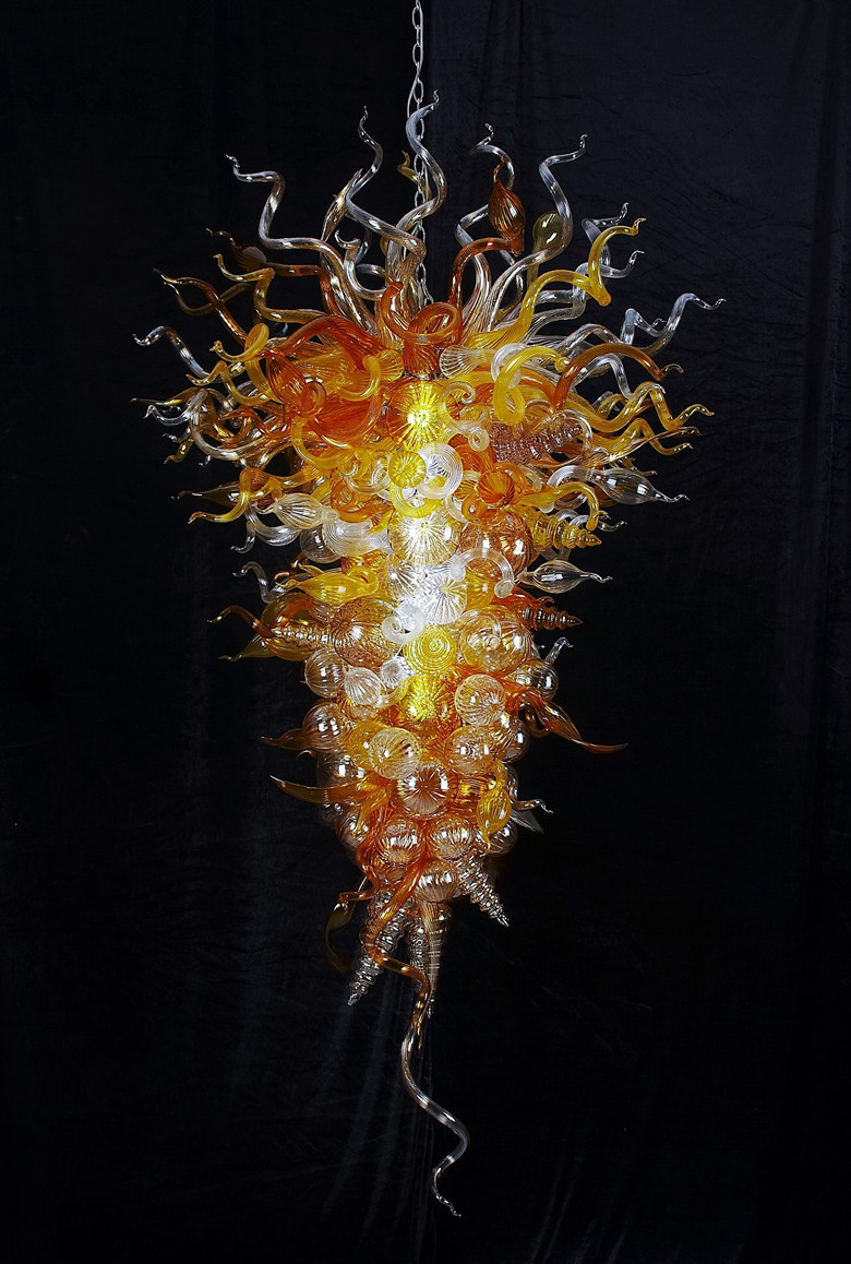 hand blown glass lighting. chihuly style modern mount hand blown glass chandelier led classical vintage victorian hotel pendant lamp for lighting