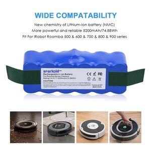 Image 2 - Sparkole 5.2Ah 14.4V Batterij Li Ion Batterij Voor Irobot Roomba 500 600 700 800 Serie 510 530 555 620 650 760 770 780 790 870 880