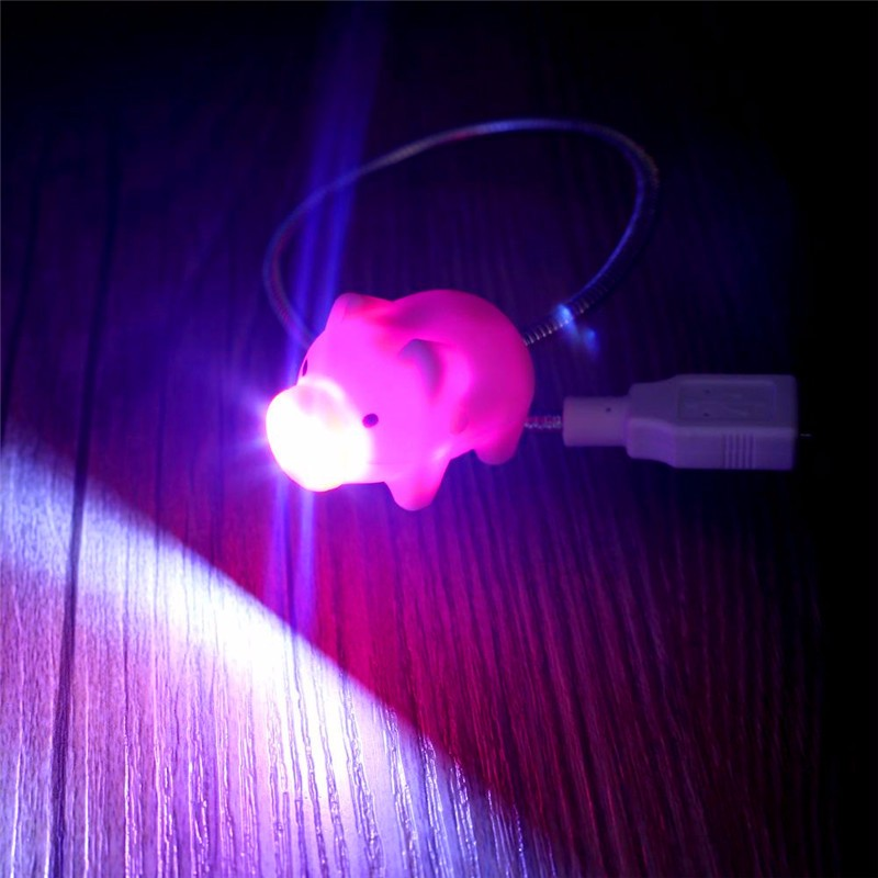 FFFAS милые свинья переключатель свет Мода Настольная лампа USB гаджет для чтения, Рабочий стол прекрасный ночник для Xiaomi Мощность банк ПК